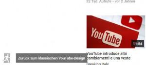 Zurück zum klassischen YouTube-Design