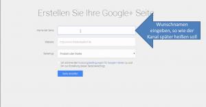 erstellen-googleseite Der Name wurde erst vor Kurzem geändert